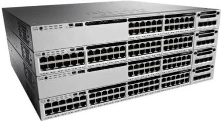 Cisco Catalyst 3850-48XS-F-E Managed L3 Switch - 48 1/10 Gigabit SFP+ Ports  & 4 40-Gigabit QSFP+ Uplink Ports